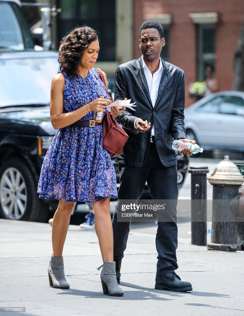 <a gi-track='captionPersonalityLinkClicked' href=/galleries/search?phrase=Rosario+Dawson&family=editorial&specificpeople=201472 ng-click='$event.stopPropagation()'>Rosario Dawson</a> (L) and <a gi-track='captionPersonalityLinkClicked' href=/galleries/search?phrase=Chris+Rock&family=editorial&specificpeople=202982 ng-click='$event.stopPropagation()'>Chris Rock</a> as seen on June 27, 2013 in New York City.
