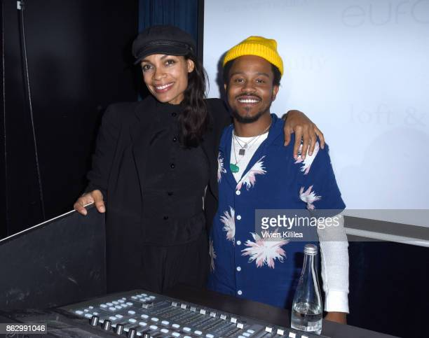Rosario Dawson and DJ Buttercream attend Childhelp Hollywood Heroes on October 18 2017 in Beverly Hills California