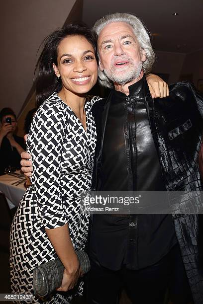 Rosario Dawson and Hermann Buehlbecker attend the Lambertz monday night predinner on January 26 2014 in Cologne Germany