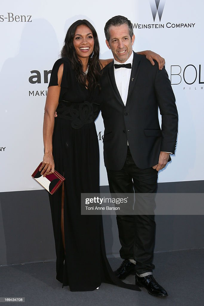 Rosario Dawson and Kenneth Cole arrive at amfAR's 20th Annual Cinema Against AIDS at Hotel du Cap-Eden-Roc on May 23, 2013 in Cap d'Antibes, France.