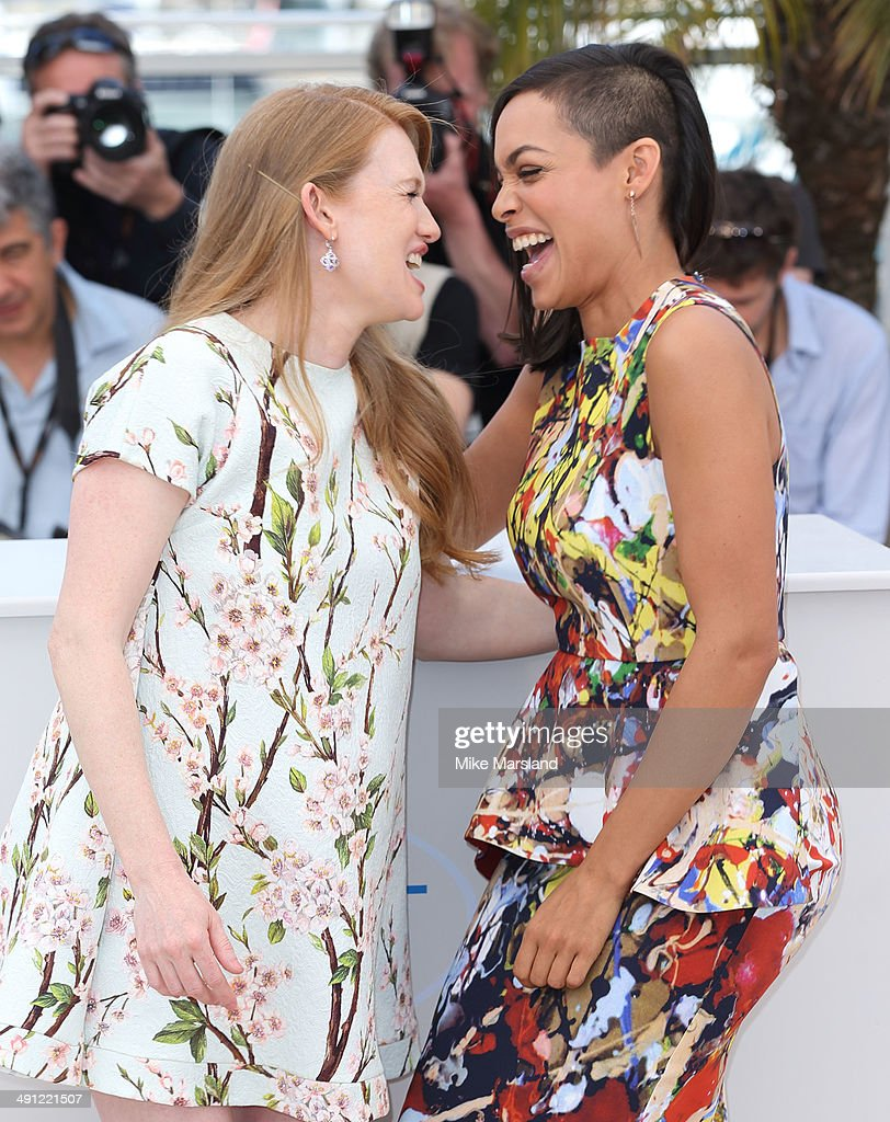 Rosario Dawson and Mireille Enos attend 'Captives' photocall at the 67th Annual Cannes Film Festival on May 16 2014 in Cannes France