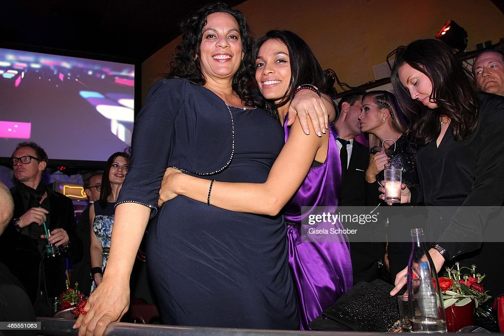 Rosario Dawson and mother Isabel Celeste Dawson attend the Lambertz Monday Night at Alter Wartesaal on January 27, 2014 in Cologne, Germany.