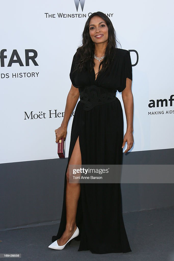 Rosario Dawson arrives at amfAR's 20th Annual Cinema Against AIDS at Hotel du Cap-Eden-Roc on May 23, 2013 in Cap d'Antibes, France.