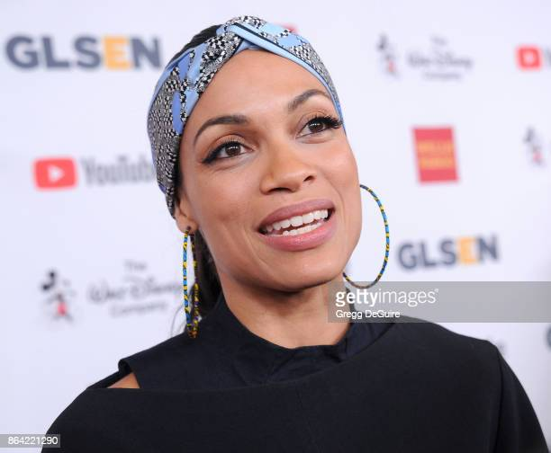 Rosario Dawson arrives at the 2017 GLSEN Respect Awards at the Beverly Wilshire Four Seasons Hotel on October 20 2017 in Beverly Hills California