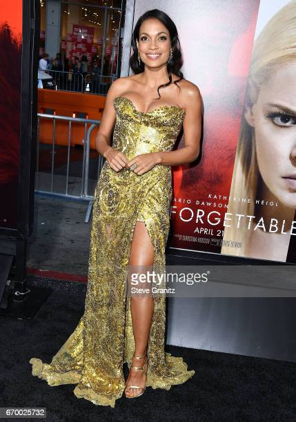Rosario Dawson arrives at the Premiere Of Warner Bros Pictures' 'Unforgettable' at TCL Chinese Theatre on April 18 2017 in Hollywood California
