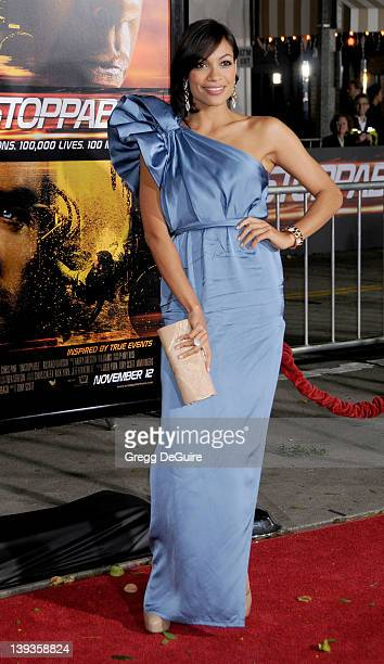 Rosario Dawson arrives at the World Premiere of 'Unstoppable' at the Regency Village Theater on October 26 2010 in Westwood California