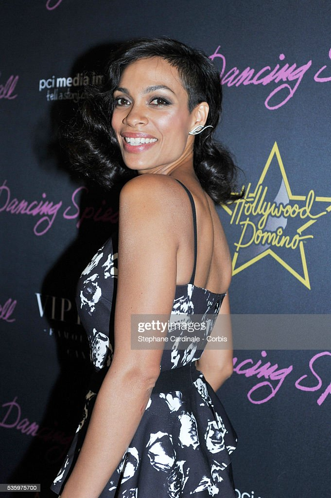 Rosario Dawson at the Dancing Spies Ball by Dom Perignon at the VIP Room during the 67th Cannes Film Festival