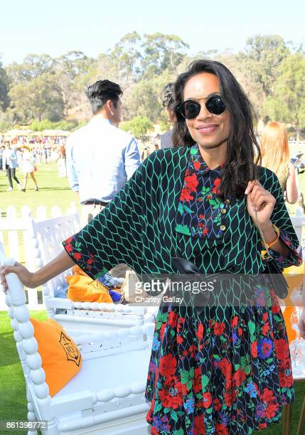 Rosario Dawson at the Eighth Annual Veuve Clicquot Polo Classic on October 14 2017 in Los Angeles California