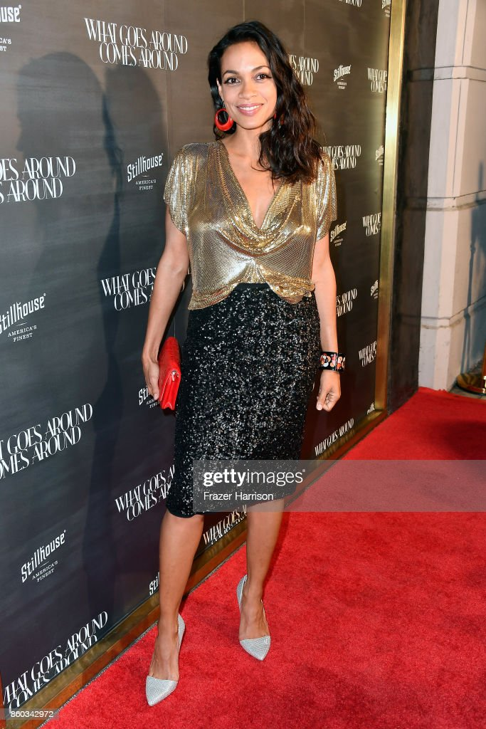 Rosario Dawson at What Goes Around Comes Around on October 11, 2017 in Beverly Hills, California.