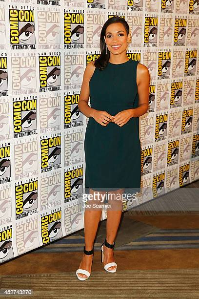 Rosario Dawson attend the Sin City A Dame to Kill For press line at ComicCon International 2014 Day 3 on July 26 2014 in San Diego California