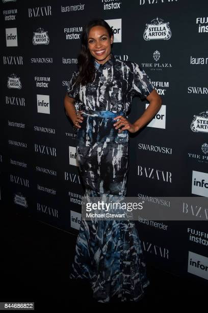 Rosario Dawson attends 2017 Harper's Bazaar Icons at The Plaza Hotel on September 8 2017 in New York City