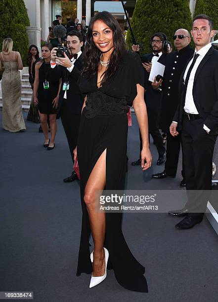 Rosario Dawson attends amfAR's 20th Annual Cinema Against AIDS during The 66th Annual Cannes Film Festival at Hotel du CapEdenRoc on May 23 2013 in...