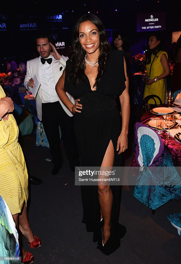 <a gi-track='captionPersonalityLinkClicked' href=/galleries/search?phrase=Rosario+Dawson&family=editorial&specificpeople=201472 ng-click='$event.stopPropagation()'>Rosario Dawson</a> attends amfAR's 20th Annual Cinema Against AIDS during The 66th Annual Cannes Film Festival at Hotel du Cap-Eden-Roc on May 23, 2013 in Cap d'Antibes, France.