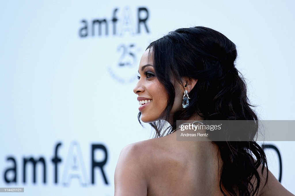 Rosario Dawson attends amfAR's Cinema Against AIDS Gala during the 64th Annual Cannes Film Festival at Hotel Du Cap on May 19, 2011 in Antibes, France.