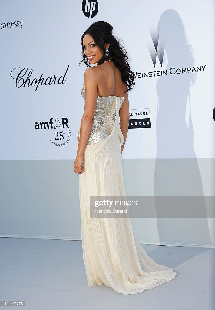 <a gi-track='captionPersonalityLinkClicked' href=/galleries/search?phrase=Rosario+Dawson&family=editorial&specificpeople=201472 ng-click='$event.stopPropagation()'>Rosario Dawson</a> attends amfAR's Cinema Against AIDS Gala during the 64th Annual Cannes Film Festival at Hotel Du Cap on May 19, 2011 in Antibes, France.
