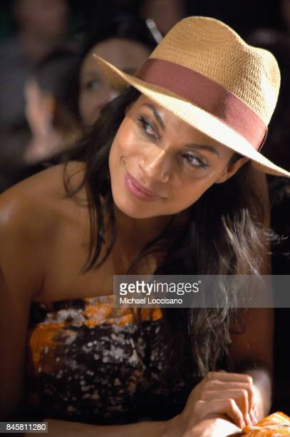 Rosario Dawson attends Anna Sui fashion show during New York Fashion Week The Shows at Gallery 1 Skylight Clarkson Sq on September 11 2017 in New...