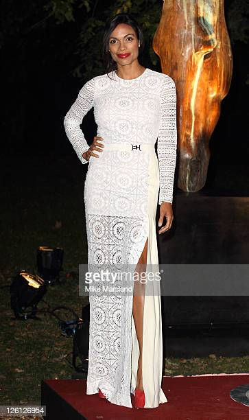 Rosario Dawson attends fundraising event in aid of Raisa Gorbachev Foundation at Hampton Court Palace on September 22 2011 in London England