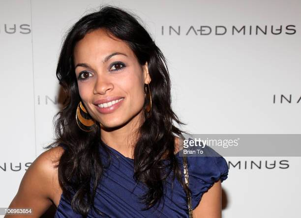Rosario Dawson attends In Add Minus grand store opening on November 18 2010 in Los Angeles California