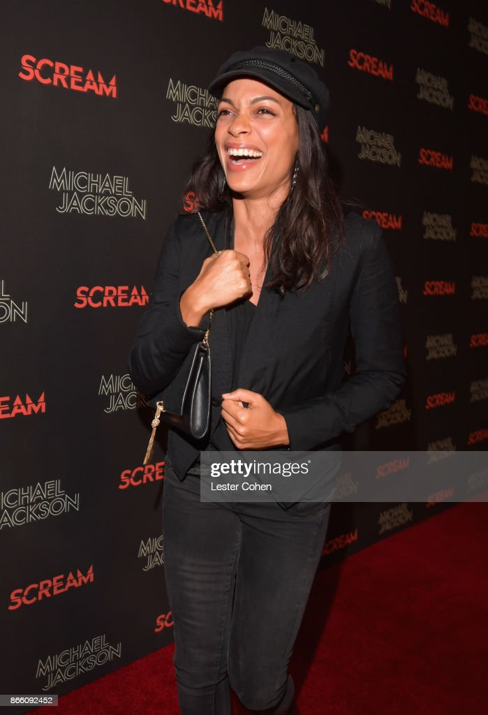 Rosario Dawson attends Michael Jackson Scream Album Halloween Takeover at TCL Chinese 6 Theatres on October 24, 2017 in Hollywood, California.