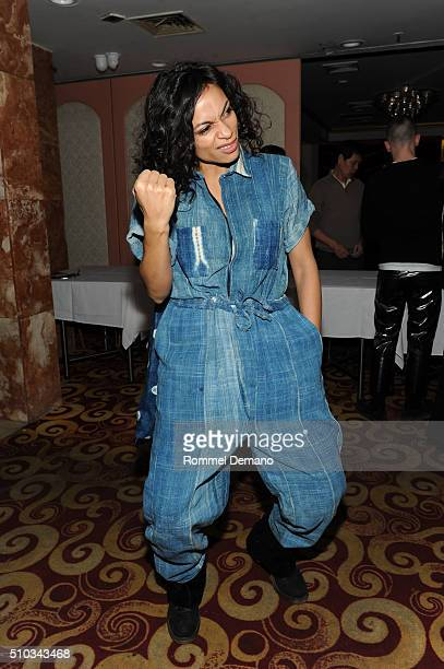 Rosario Dawson attends Opening Ceremony After Party at 88 Palace on February 14 2016 in New York City