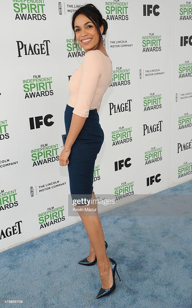 Rosario Dawson attends the 2014 Film Independent Spirit Awards at Santa Monica Beach on March 1, 2014 in Santa Monica, California.