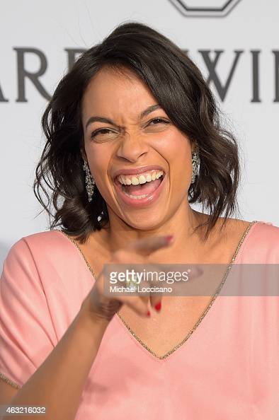 Rosario Dawson attends the 2015 amfAR New York Gala at Cipriani Wall Street on February 11 2015 in New York City