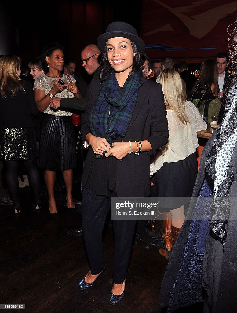 Rosario Dawson attends the after party for the New York premiere of 'Mandela Long Walk to Freedom' hosted by The Weinstein Company Yucaipa Films...