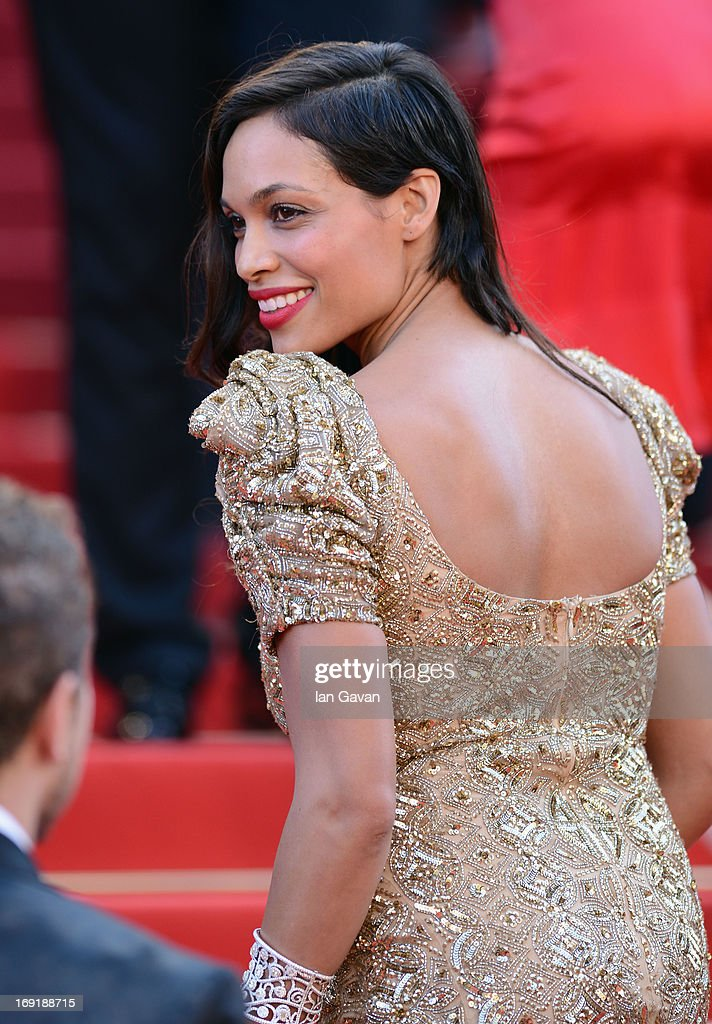 Rosario Dawson attends the 'Behind The Candelabra' Premiere during the 66th Annual Cannes Film Festival at Grand Theatre Lumiere on May 21, 2013 in Cannes, France.