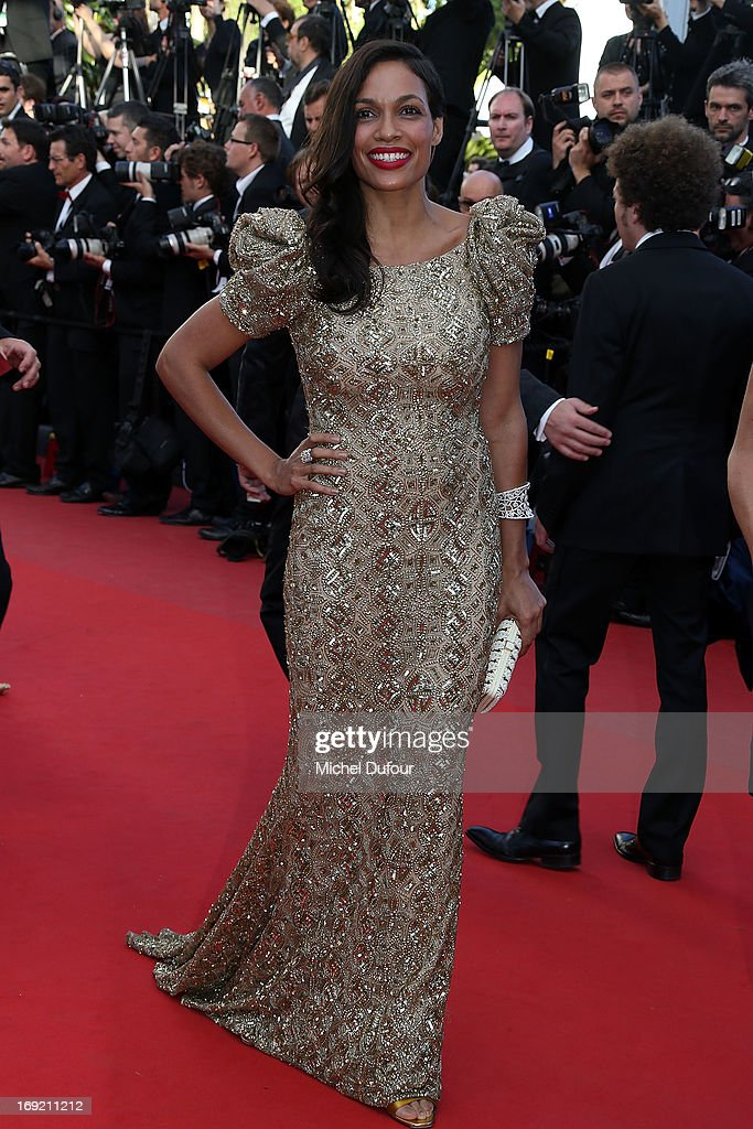 Rosario Dawson attends the 'Cleopatra' premiere during The 66th Annual Cannes Film Festival at Theatre Lumiere on May 21, 2013 in Cannes, France.
