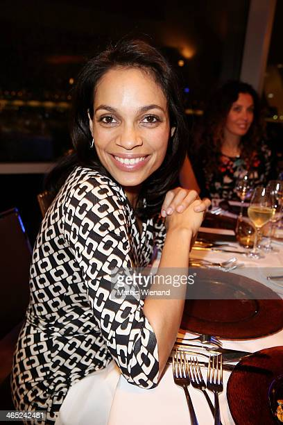 Rosario Dawson attends the Lambertz monday night predinner on January 26 2014 in Cologne Germany