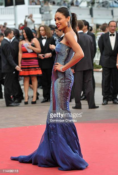 Rosario Dawson attends the 'Les BienAimes' Premiere and Closing Ceremony during the 64th Annual Cannes Film Festival at the Palais des Festivals on...