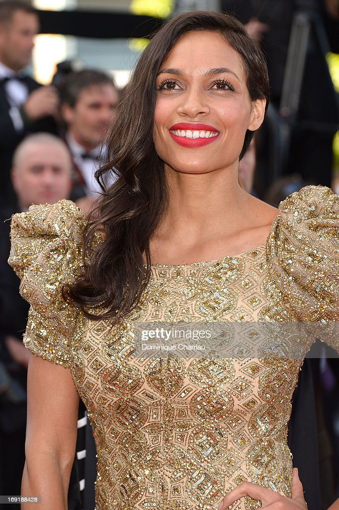 Rosario Dawson attends the Premiere of 'Cleopatra' during the 66th Annual Cannes Film Festival at the Palais des Festivals on May 21, 2013 in Cannes, France.