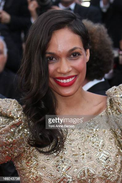 Rosario Dawson attends the Premiere of 'Cleopatra' during the 66th Annual Cannes Film Festival at the Palais des Festivals on May 21 2013 in Cannes...