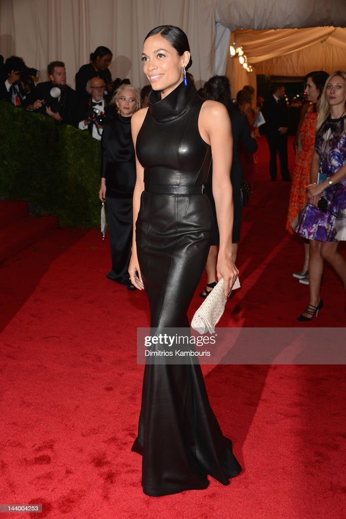 <a gi-track='captionPersonalityLinkClicked' href=/galleries/search?phrase=Rosario+Dawson&family=editorial&specificpeople=201472 ng-click='$event.stopPropagation()'>Rosario Dawson</a> attends the 'Schiaparelli And Prada: Impossible Conversations' Costume Institute Gala at the Metropolitan Museum of Art on May 7, 2012 in New York City.