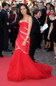 Rosario Dawson attends the 'This Must Be The Place' Premiere during the 64th Cannes Film Festival at the Palais des Festivals on May 20 2011 in...