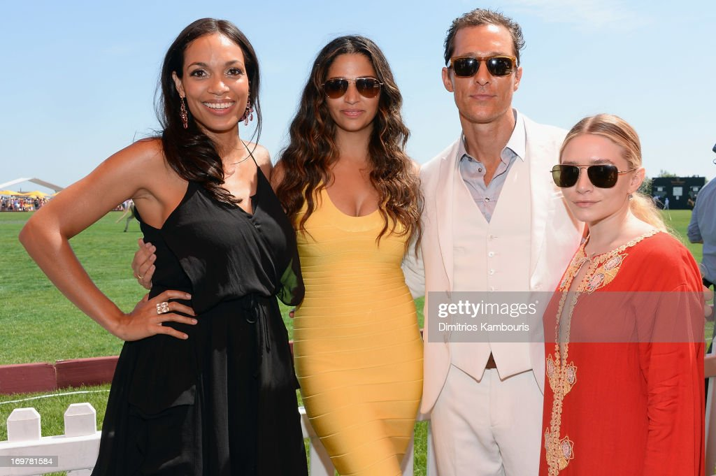 <a gi-track='captionPersonalityLinkClicked' href=/galleries/search?phrase=Rosario+Dawson&family=editorial&specificpeople=201472 ng-click='$event.stopPropagation()'>Rosario Dawson</a>, <a gi-track='captionPersonalityLinkClicked' href=/galleries/search?phrase=Camila+Alves&family=editorial&specificpeople=4501431 ng-click='$event.stopPropagation()'>Camila Alves</a>, <a gi-track='captionPersonalityLinkClicked' href=/galleries/search?phrase=Matthew+McConaughey&family=editorial&specificpeople=201663 ng-click='$event.stopPropagation()'>Matthew McConaughey</a> and Ashley Olson attend the VIP Marquee during the sixth annual Veuve Clicquot Polo Classic on June 1, 2013 in Jersey City.