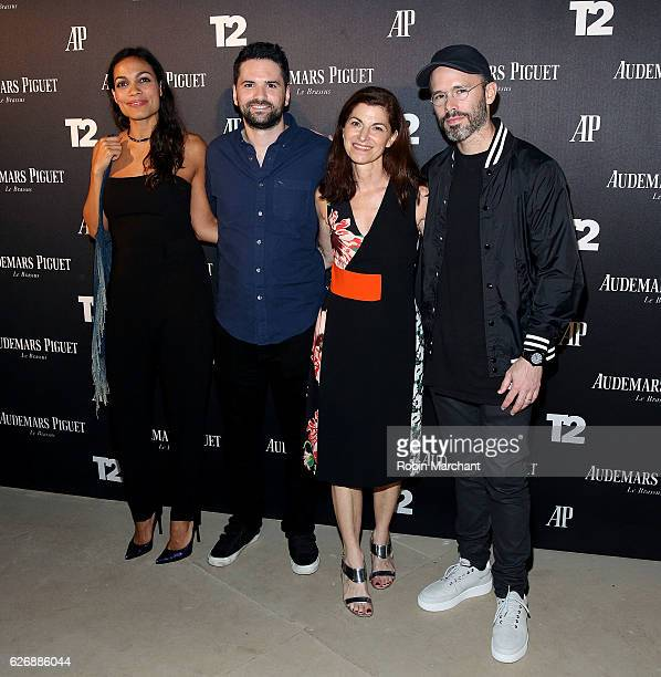 Rosario Dawson Dan Trachtenberg Diane Solway and Daniel Arsham attend TakeTwo Interactive Hosts Miami Beach Kickoff Party On November 30th At...