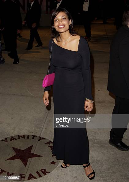 Rosario Dawson during 2002 Vanity Fair Oscar Party Hosted by Graydon Carter Arrivals at Morton's Restaurant in Beverly Hills California United States
