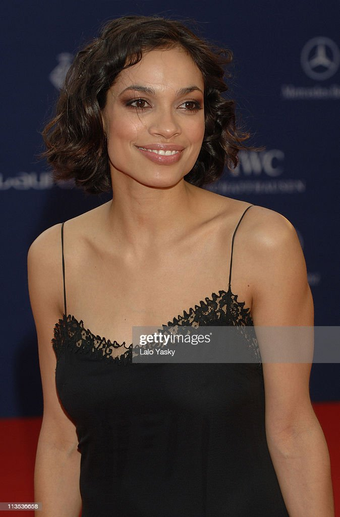Rosario Dawson during 2006 Laureus World Sports Awards - Red Carpet Arrivals in Barcelona, Spain.