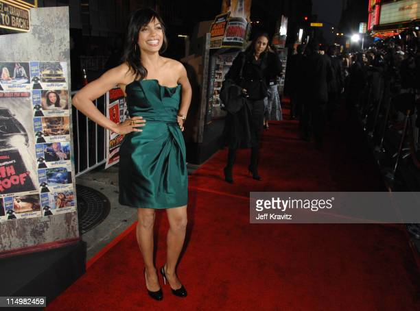 Rosario Dawson during 'Grindhouse' Los Angeles Premiere Red Carpet at Orpheum Theatre in Los Angeles California United States