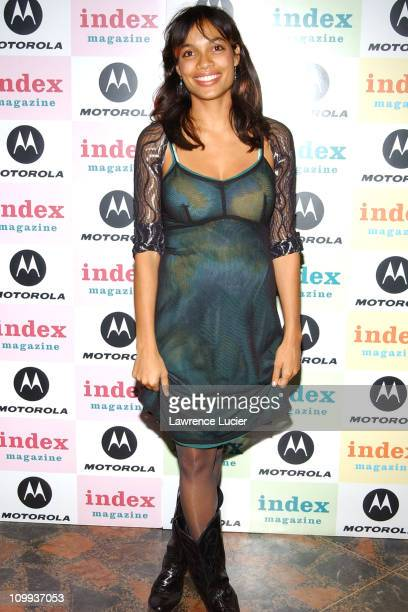 Rosario Dawson during Index MagazineMotorola Benefit for the McAuley Psychiatric Treatment Program at The Public Theater in New York New York United...