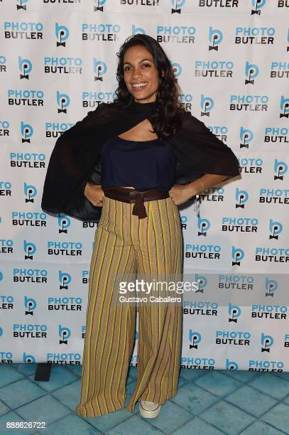 Rosario Dawson Hosts The Launch Of Photo Butler At Art Basel With Anna Rothschild And Claudine De Niro at Soho House Miami on December 8 2017 in...