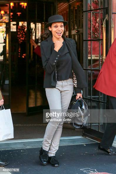 Rosario Dawson is seen in New York City on December 04 2014 in New York City