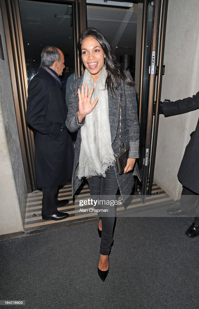 <a gi-track='captionPersonalityLinkClicked' href=/galleries/search?phrase=Rosario+Dawson&family=editorial&specificpeople=201472 ng-click='$event.stopPropagation()'>Rosario Dawson</a> sighting leaving the Mayfair Hotel on March 20, 2013 in London, England.