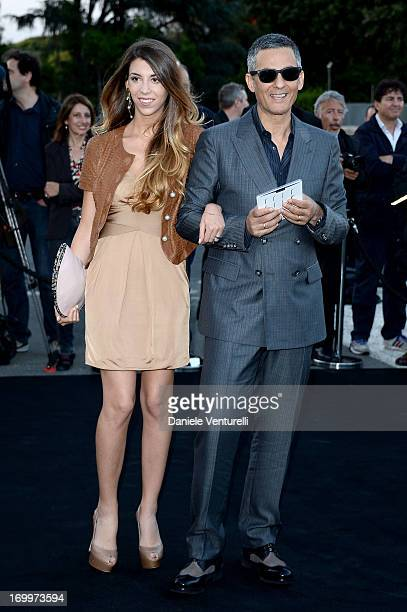 Rosario Fiorello and Olivia Biondo attend 'One Night Only' Roma on June 5 2013 in Rome Italy