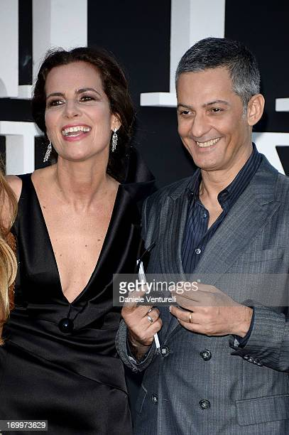 Rosario Fiorello and Roberta Armani attend 'One Night Only' Roma on June 5 2013 in Rome Italy