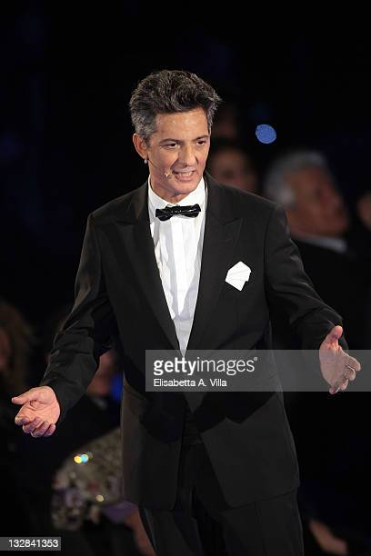 Rosario Fiorello attends 'Il Piu Grande Spettacolo Dopo Il Weekend' TV show at Cinecitta on November 14 2011 in Rome Italy