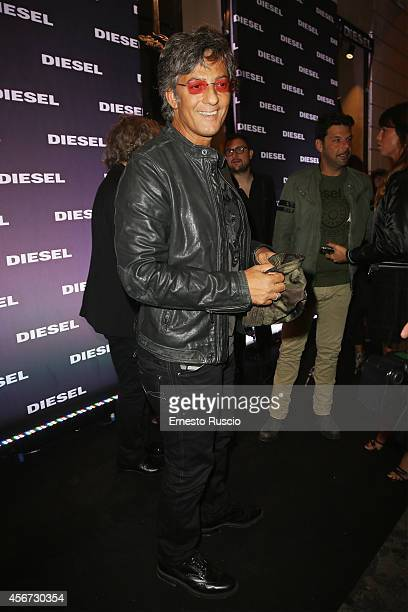 Rosario Fiorello attends the Diesel store opening at Piazza Di Spagna on October 2 2014 in Rome Italy