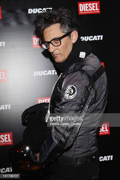Rosario Fiorello attends the 'Diesel Together With Ducati' cocktail party on March 22 2012 in Rome Italy