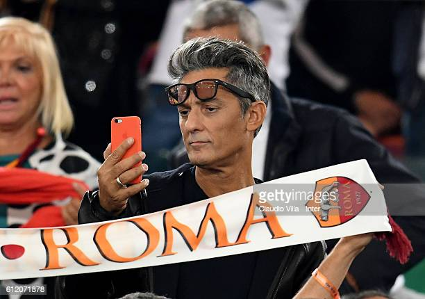 Rosario Fiorello attends the Serie A match between AS Roma and FC Internazionale at Stadio Olimpico on October 2 2016 in Rome Italy